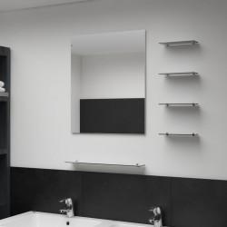 vidaXL Mesita auxiliar madera reciclada y hierro fundido 60x(42-63) cm