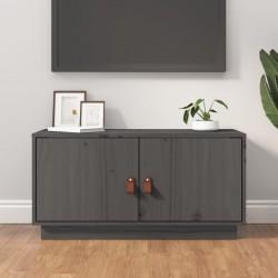 vidaXL Mesa auxiliar con bandeja redonda 39,5x44,5 cm gris