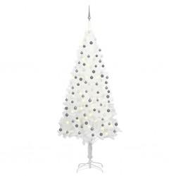 vidaXL Cabeza de Budha decorativa de aluminio plateado