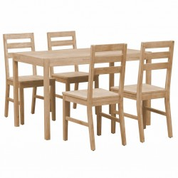 vidaXL Set de mesa de centro 2 uds redondo madera reciclada 40 cm/50cm