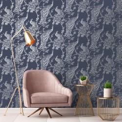 vidaXL Mesa de centro de madera maciza 110x60x45 cm