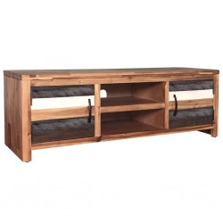 vidaXL Mesa de centro de madera de acacia 60x60x45 cm
