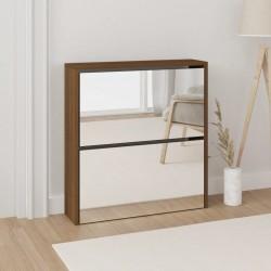 vidaXL Set de tres mesas de centro apilables vidrio templado claro