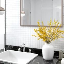 vidaXL Set de dos mesas de centro apilables  vidrio templado claro