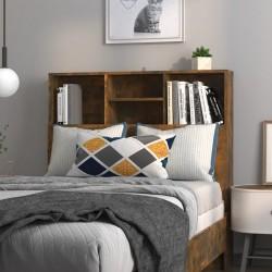 vidaXL Mesa auxiliar con estante de madera de roble maciza 27x35x55cm