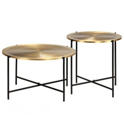 vidaXL Set de mesas de centro madera maciza de acacia dos unidades