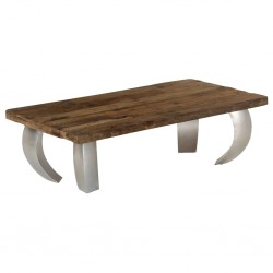 vidaXL Mesa de centro madera reciclada maciza