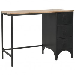 vidaXL Mesa de centro de madera maciza de acacia cepillada 110x60x40 cm