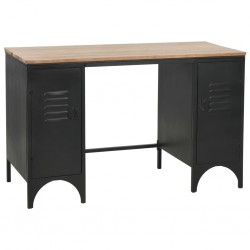 vidaXL Mueble para TV madera maciza de acacia cepillada 140x38x40 cm