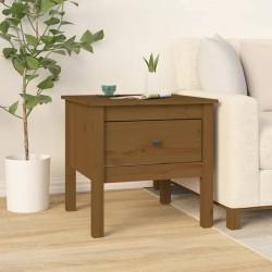 vidaXL Mesa auxiliar de madera maciza reciclada 50x50x35 cm