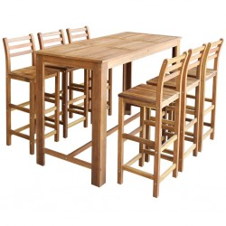 vidaXL Mesa de centro de madera maciza reciclada 60x45 cm plateada