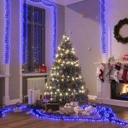 vidaXL Mueble para la TV de madera de mango azul maciza pintada a mano