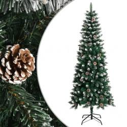 vidaXL Mesa consola de madera maciza de mango azul pintada a mano