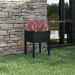 vidaXL Mesita de noche de bambú natural 45x45x40 cm