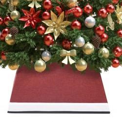 vidaXL Mesita de noche de bambú marrón oscuro 45x45x40 cm