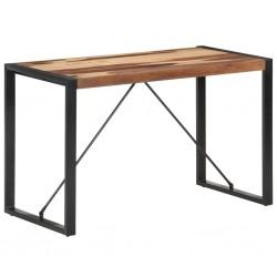 vidaXL Banco de cuero de cabra auténtico marrón 160x28x50 cm