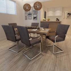 vidaXL Mesa de salón comedor de madera maciza de mango rugosa 180 cm