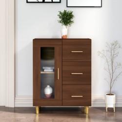 vidaXL Aparador con estantes de madera maciza reciclada 65x30x180 cm