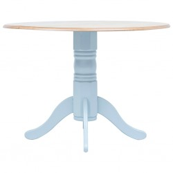 vidaXL Mesa de comedor de madera maciza 118x60x76 cm
