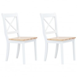 vidaXL Mesa de comedor vintage de madera maciza 118x60x76 cm