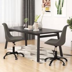 vidaXL Manta tejida de algodón 130x171 cm diseño a cuadros gris