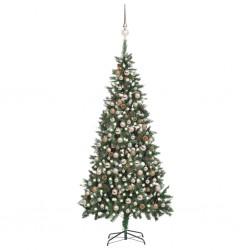 vidaXL Mesa de centro de madera de fresno 100x55x36 cm