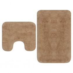 vidaXL Alfombra tejida a mano Chindi de algodón marrón 120x170 cm