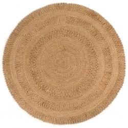 vidaXL Alfombra tejida a mano Chindi cuero 190x280 cm negro