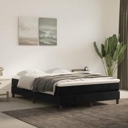 vidaXL Alfombra shaggy peluda de cuero auténtico 160x230 cm negra