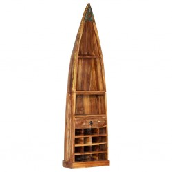 vidaXL Mesa de centro de madera maciza reciclada negra en forma de bol