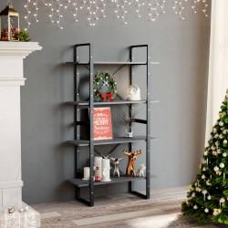 vidaXL Manta en espiguilla 160x210cm algodón gris