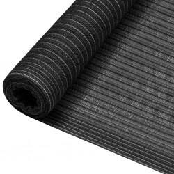 vidaXL Manta a rayas 220x250 cm algodón gris y blanco