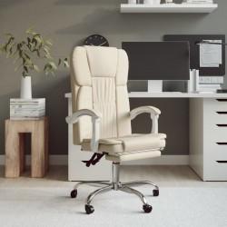 vidaXL Banco de madera maciza y lino blanco crema 150x40x48 cm