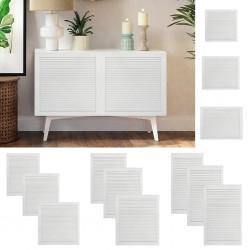 vidaXL Mesas de centro apilables 3 unidades madera de teca reciclada