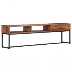 vidaXL Mueble para la televisión de madera mindi maciza 145x35x60 cm
