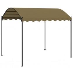 vidaXL Sillón de acero y tela azul