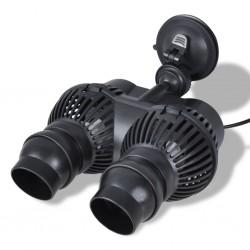 vidaXL Colchón de cama de agua con forro y divisor 200x200 cm F5