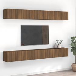 vidaXL Conjunto de espejos de pared cuadrados vidrio 7 piezas