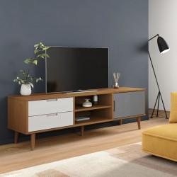 vidaXL Escritorio 120x60x75 cm color roble y blanco