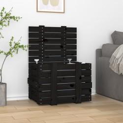 vidaXL Mesa de centro de madera de acacia maciza 90x50x40 cm