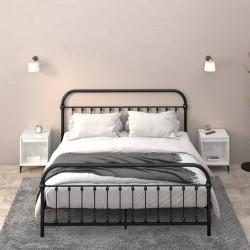 vidaXL Mesa de centro de madera maciza de abeto 115x55x50 cm