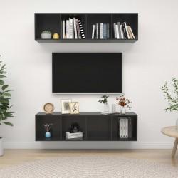 vidaXL Mesa de centro de madera maciza reciclada 100x60x35 cm