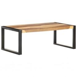 vidaXL Mesa de centro de madera maciza de acacia 90x50x37,5 cm