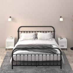 vidaXL Mesa de centro de madera maciza de abeto marrón 91x51x38 cm