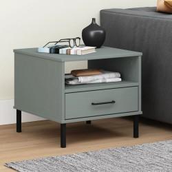 vidaXL Mesa de centro con ruedas madera maciza de mango 110x50x37 cm