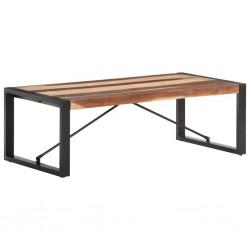 vidaXL Mesa de centro de madera maciza de sheesham 80x80x30 cm