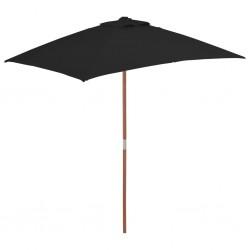 vidaXL Sillón de cuero auténtico con madera de acacia marrón