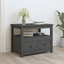 vidaXL Mueble de lavabo con 2 cestas madera teca maciza 74x45x75 cm