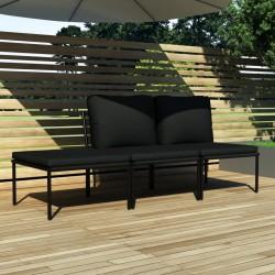 vidaXL Mesa de centro aluminio martillado 100x50x28 cm plateado