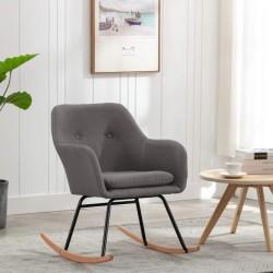 vidaXL Sillón tapizado de tela gris
